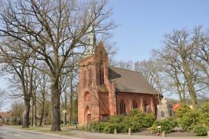 Kreuzkirche aus dem Jahr 1868 in Eickeloh